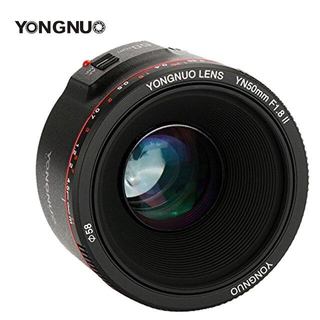 YONGNUO YN50mm F1.8 II F1.8 Large Aperture Bokeh Effect Camera Lens Auto Focus Lens for Canon EOS 700D 750D 5D 600D DSLR