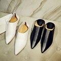 2016 Новый осенняя мода острым носом контракт толстый каблук женщины насосы сладкий звезда Голливуда удобная sexy lady причинно-следственной обувь