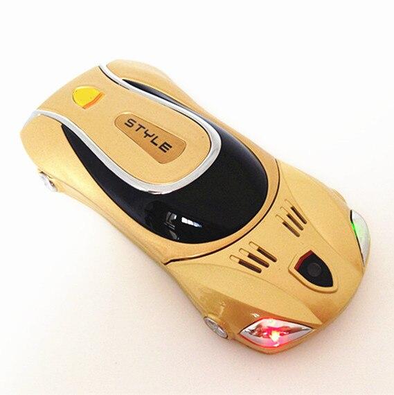 Flashlight MiniCar Mobile Phone F1 A11 Metal Cover Dual Sim Luxury Children Cell Phone Russian Spanish