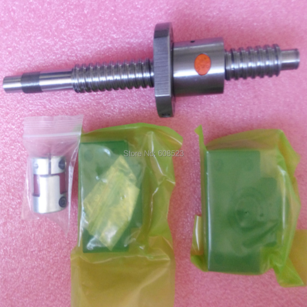 ШВП набор SFU2510 L 1000 мм и Ballnut и Ballscrew Поддержка BK20 BF20 и мяч гайка кронштейн корпус с конечной обработки