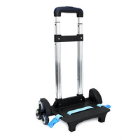 Removable Metal Handle with Wheels Portable Retractable Folding Trolley for Travel Suitcase Rolling Hand Cart Luggage Parts