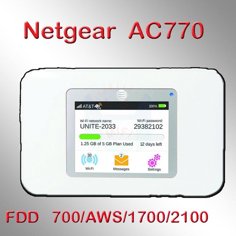 Déverrouiller 150 Mbps netger sans fil Aircard 770 S 4G LTE 3g Mobile WiFi Hotspot Support: 700/AWS/1700/2100 Mhz pk 782 s 790 s 760 s 762 s S