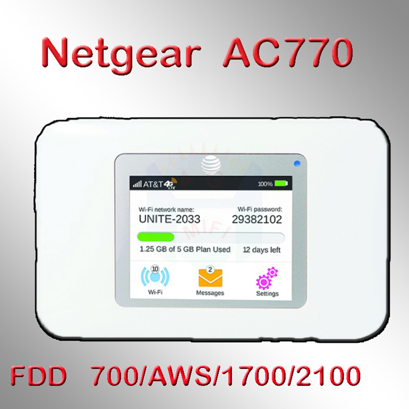 150 MBit / s netger Wireless Aircard 770S 4G LTE 3g Mobiler WiFi Hotspot-Support: 700 / AWS / 1700 / 2100Mhz pk 782s 790s 760s 762s
