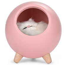 Creative Products Cat Usb Charging Night Light Atmosphere Bedroom Warm With Sleeping Lights