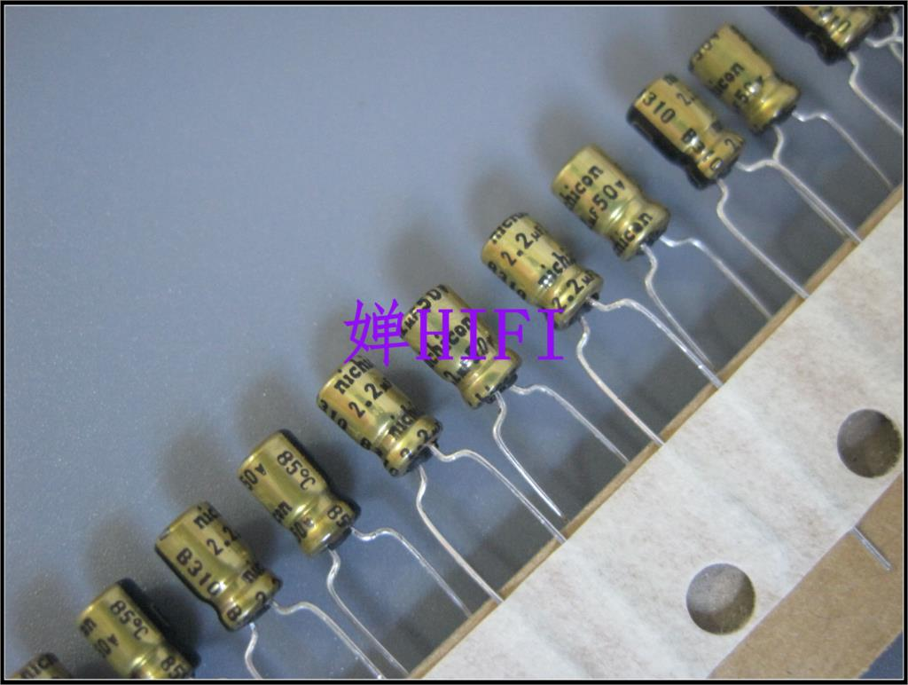 2019 hot sale 20PCS/50PCS Nichicon original Japanese electrolytic capacitor 50v2.2uf 4x7 free shipping2019 hot sale 20PCS/50PCS Nichicon original Japanese electrolytic capacitor 50v2.2uf 4x7 free shipping