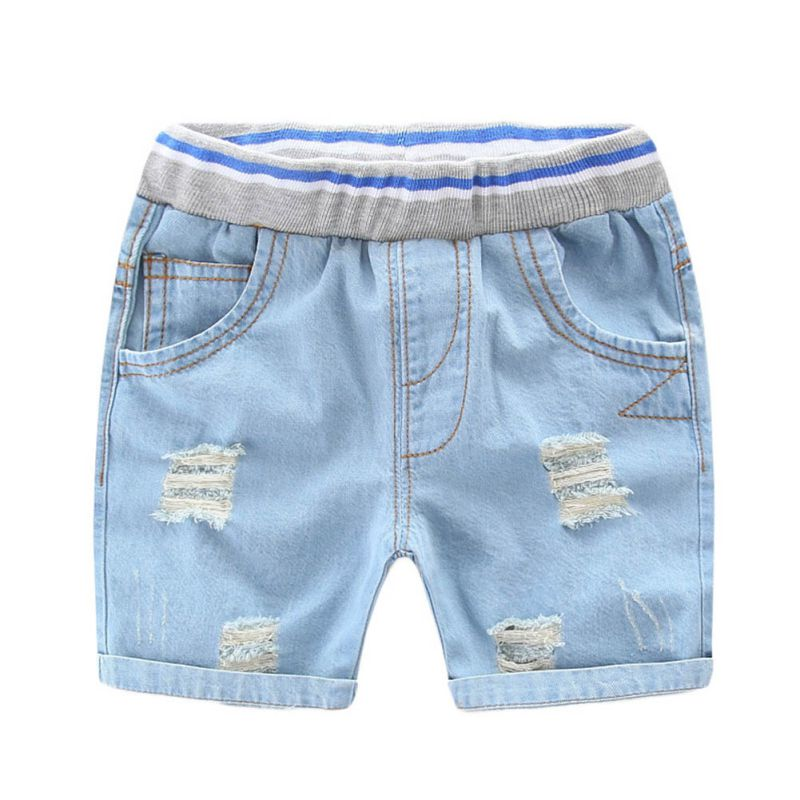 Summer Infant Ripped Jeans   Shorts   For Boy Cool Style Denim Boy's Panties Jeans   Shorts   For Children Denim   Shorts   2-7Y