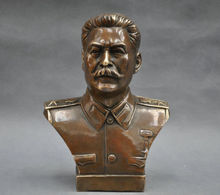 Details about Exquisite Chinese 6 Russian Leader Joseph Stalin Bust Bronze Statue wedding copper Decoration real Brass