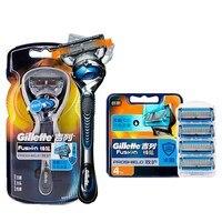 Оригинальные Gillette Fusion ProShield 5 слоев ручные бритвенные лезвия для мужчин FlexBall брендовые бритвы запасные части Безопасная бритва