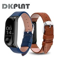 Kolorowa skórzana czarna Różana koperta Smart Watch Band dla paska Xiaomi Mi Band 3 dla bransolety Xiaomi Mi Band 3 Miband 3 Strap tanie tanio Pasek do zegarka DKPLNT Dorosłych Dla pasma mi 3 Dla Xiaomi mi band3 6 7in-7 9in(17cm-20cm) mi Band 3 pasek Xiaomi mi zły pasek 3