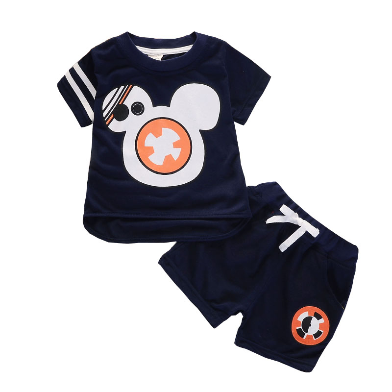 BibiCola Baby Boy Clothing Set Children Boy Tracksuit Toddler T-shirt+Short Pants Kids Sports Suit 2017 New Arrival Bebe Clothes 2017 baby boys clothing set gentleman boy clothes toddler summer casual children infant t shirt pants 2pcs boy suit kids clothes