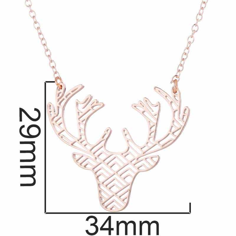 SMJEL Deer Pendant Necklace Classic Vintage Statement Necklace Exquisite Choker Animals Necklace Popular Jewelry Friend Gift