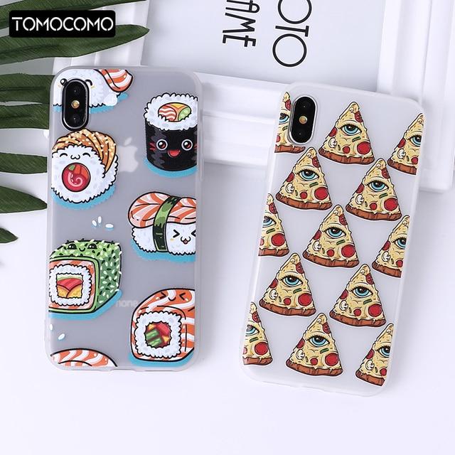 Food Fruit Pineapple Lemon Banana Strawberry Sushi Phone Case Fundas For Iphone6 6Plus 7 7Plus 8 8Plus X   XS Max Cover Fundas