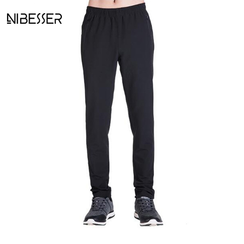 NIBESSER Autumn Fashion Men Fitness Pants Waterproof UV Breathable Elasticity Compression Pants Male Quick Dry Workout Pants