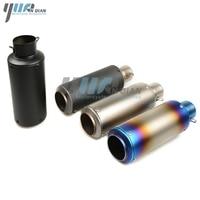 YUANQIAN Laser Marking Motorcycle Exhaust Muffler For Honda CB 599 919 400 CB600 HORNET CBR 600 F2 F3 F4 F4i 900RR VTR PCX125