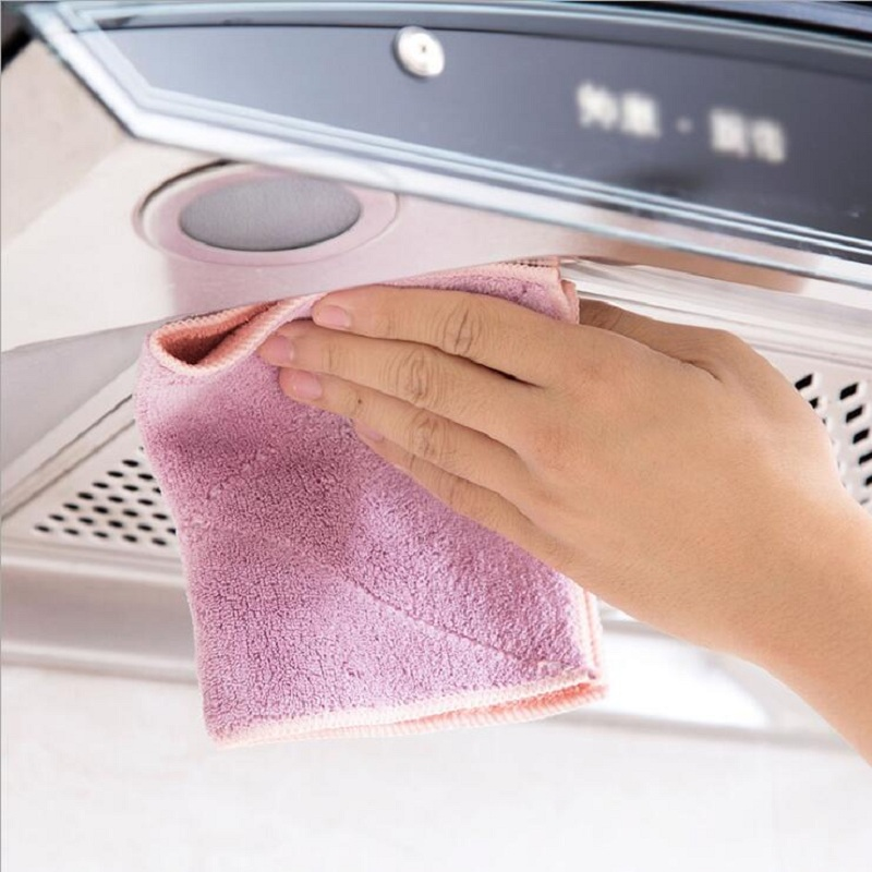 10pcs set Absorbent cloth towels scouring cloth kitchen accessories no grease no hair clean cloth towel in Cleaning Cloths from Home Garden