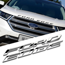 2cm Hood FORDEDGE Separate Letters Solid Metal Chrome Refitting Car Styling Emblem Logo 3D Sticker for Ford New Edge Explorer