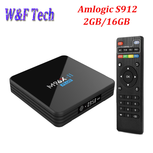 M96X II Plus Amlogic S912 Android TV BOX Octa Core 2GB 16GB 4K Media