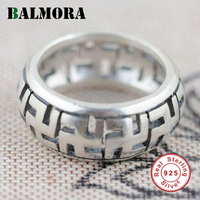 100 Real Pure 925 Sterling Silver Jewelry Multi Sizes Swastika Loves Rings For Women Men Engagement