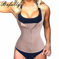 Waist Trainer With Zipper Full Body Shaper Tummy Waist Cincher Slimming Tank Tops Corrective Underwear Waist
