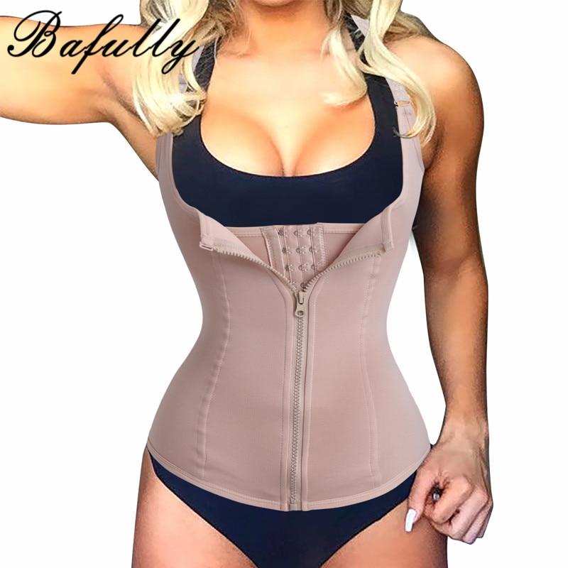 Cuerpo traje mujeres adelgazantes cremallera cintura Trainer cinta modeladora caliente Cuerpo Shaper tummy cintura cincher Tank shapewear correctivo Tops