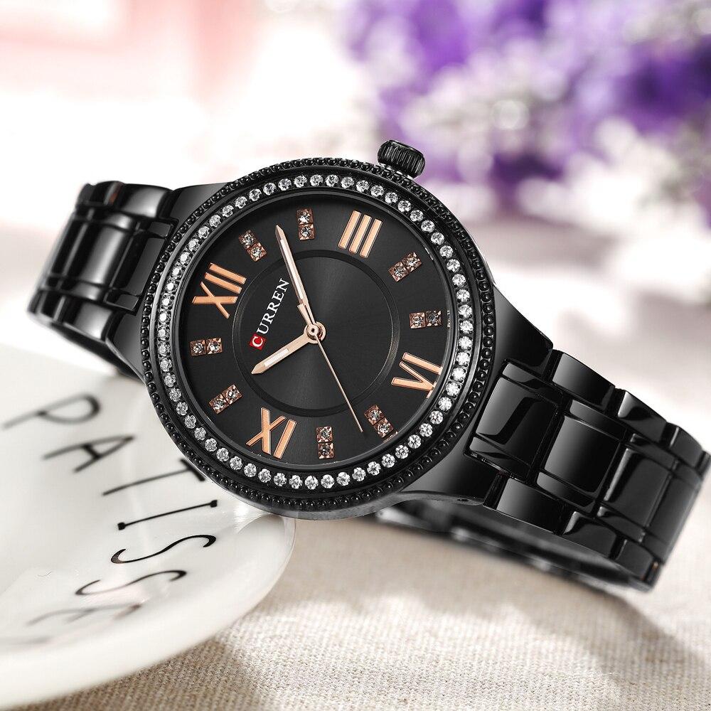 de Aço Inoxidável das Mulheres Relógios Feminino Relogio feminino Montre Femme