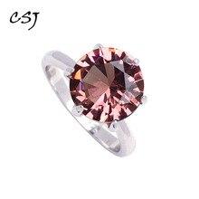 Женское кольцо с зултанитом CSJ, кольцо из стерлингового серебра 925 пробы с классическим дизайном, вечерние ювелирные украшения для свадьбы