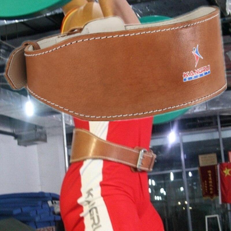 Ceinture d'haltérophilie en cuir de vache soutien du poignet équipement de Fitness de gymnastique