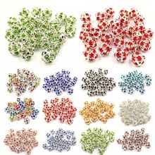 LNRRABC 10 Pcs/lot Round Crystal  Ball DIY Beads Jewelry Making Bracelet Necklace 12 Colors 6/8/10mm