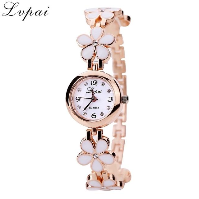 Lvpai New Luxury Casual Fashion Bracelet Watch Flower Strap Wristwatch Dress Ele