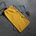 The fall of the new women's long knitting bag hip skirt slit skirt sexy strap tether wool knit skirt