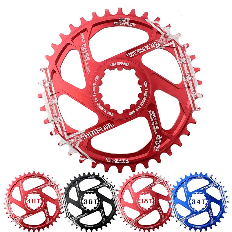 GXP Pedaleira MTB Bicicleta Cadeia de mountain bike CARACOL Anel 34T 36T 38T 40T Estreito largo Pedaleira fit XX1 X9 GXP XO X01