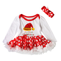 Sprint Autumn Party Newborn Baby Girl Clothing Headband Set Long Sleeve Bodysuit Tutu Dress Set Funny