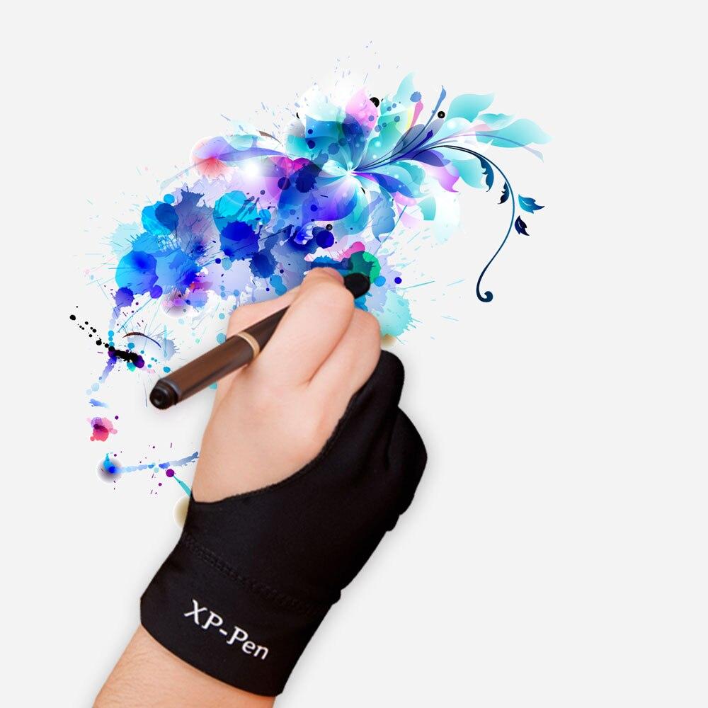 XP-Kalem Toptan Profesyonel Sanatçı Anti-kirlenme Eldiven için Ugee Grafik çizim Tablet için S Boyutu ve Huion dijital tablet