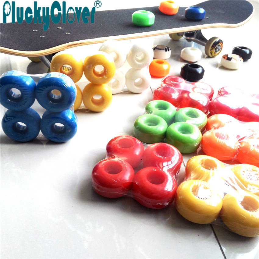 4pcs/set 100A Scooter wheel Skateboard wheel 52x32mm fish board  Wheel sliding downhill Double Single rocker skateboard wheels
