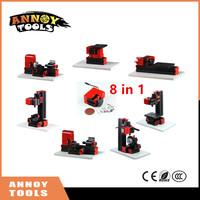 ANNOYTOOLS New 8 In 1 Mini Lathe Machine Mini Combined Machine Tool For Soft Metal Or