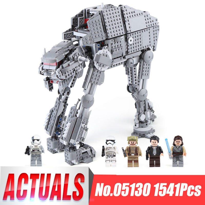 Lepin 05130 The First Order Heavy Assault Walker Set 1541Pcs Star Series Wars Building Blocks Brick Funny Toy Gift legoing 75189