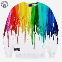 Andy Hot Model Europe And America Fashion 7 Colors Pigment Printing 3D Sweatshirts Men Hoodies