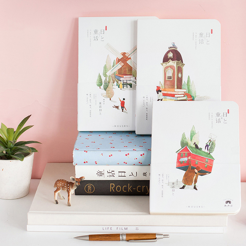 Art Beautiful Hardcover Notebook blank Notepad Kraft paper Copybook Daily Memos Journal Office Student stationery supplies #505