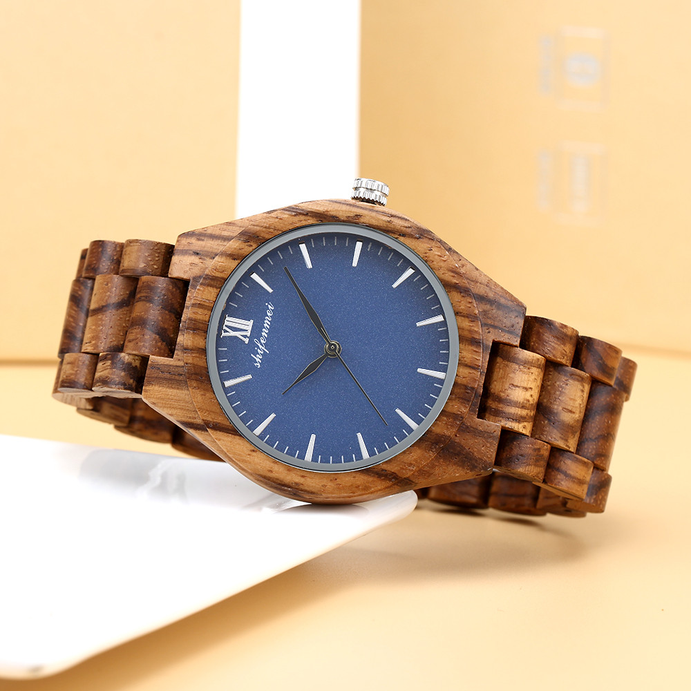 Wooden Watch Movement Wristwatch Men's Women's Wooden Band Watch Quartz Lovers Minimalist Watches Clock Wristwatch LD
