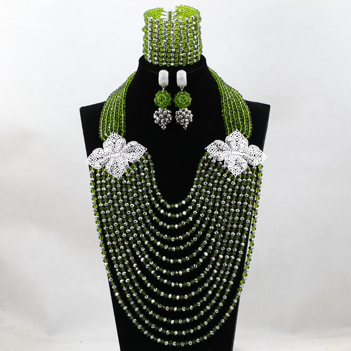 Luxury 13 Lays Women Beads Weaving Nigerian African Bridal Wedding Jewelry Set Beaded  Party Costume Jewelry Sets hx110Luxury 13 Lays Women Beads Weaving Nigerian African Bridal Wedding Jewelry Set Beaded  Party Costume Jewelry Sets hx110