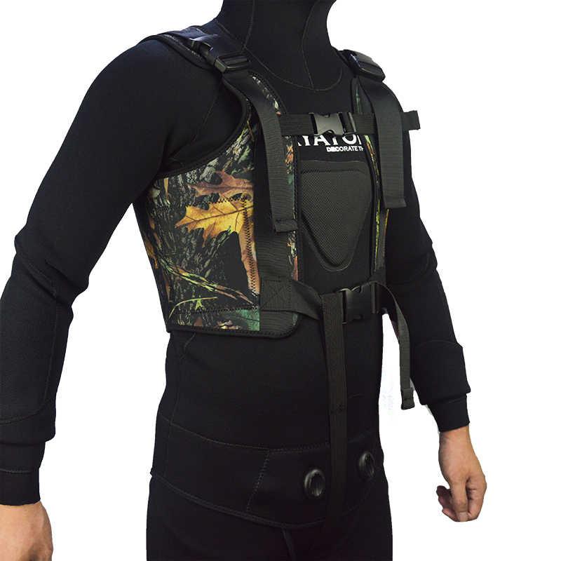 LayaTone ağırlık yelek erkekler 3mm neopren Wetsuit ağırlık koşu Spearfishing balıkçılık yeleği avcılık dalgıç kıyafeti üst yelek ceket