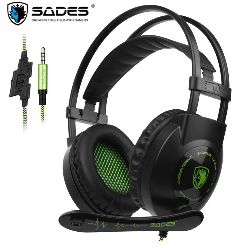 Sades SA801 Over-Ear Stereo Gaming Headset PS4 Headphone with Microphone Noise Isolation for New Xbox One PC Mac Tablets Laptop