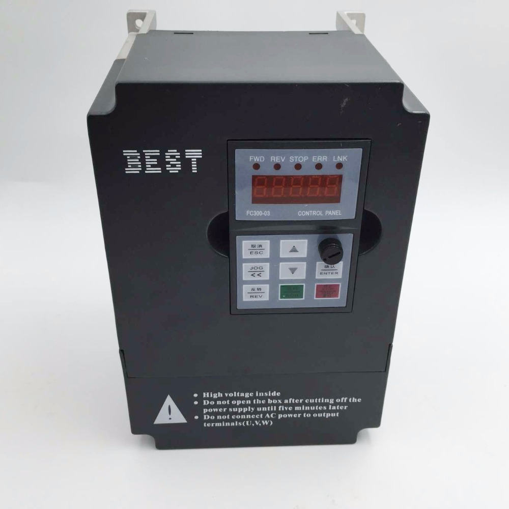 New 3kw 4hp inverter variable frequency drive single phase for Vfd for 3hp motor