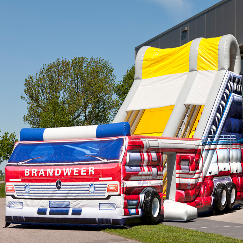 Large Inflatable Slide With Firetruck Theme/Inflatable Bouncer large inflatable slide with firetruck theme inflatable bouncer