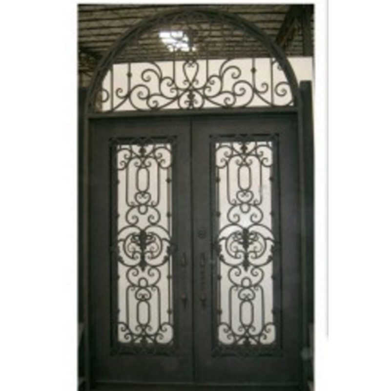 Hench 100% Steels Metal Iron Metal Glass Double Entry Doors