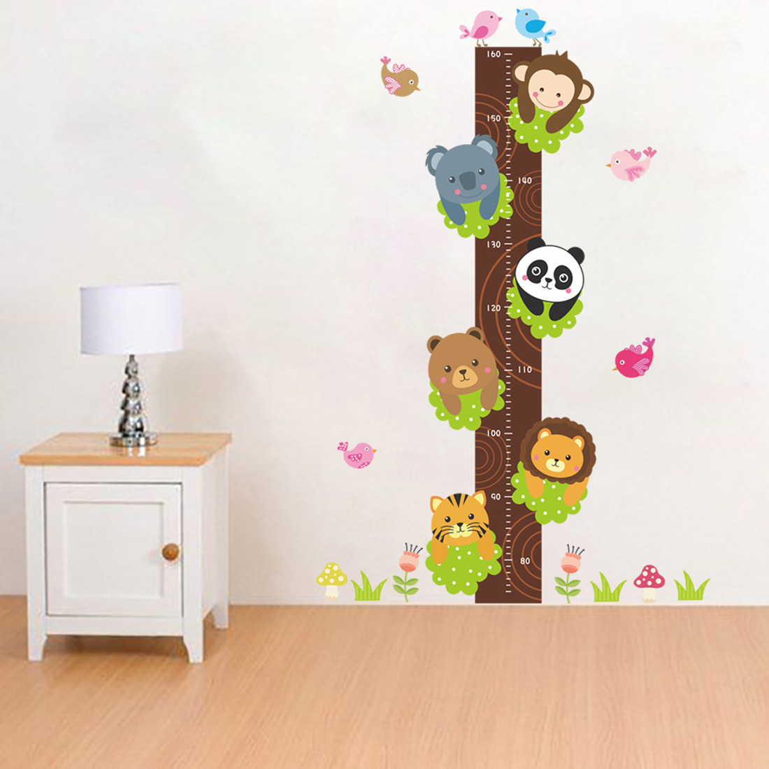 New animals tree growth chart height measure wall decals kids room special note need more wall stickers we will provide more discounts quantity contact us amipublicfo Choice Image