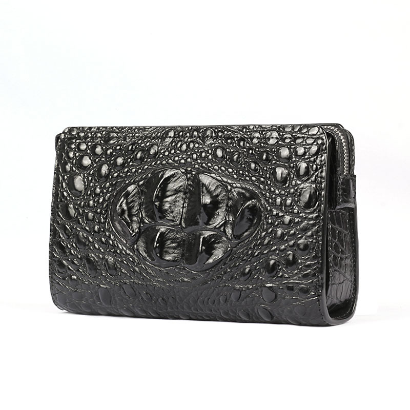 купить Crocodile Leather Handbag Men's Large-capacity Business Leather Wallet Long Password Lock Clutch Bag Men Bag Tide Hand Bag Ins по цене 13165.68 рублей