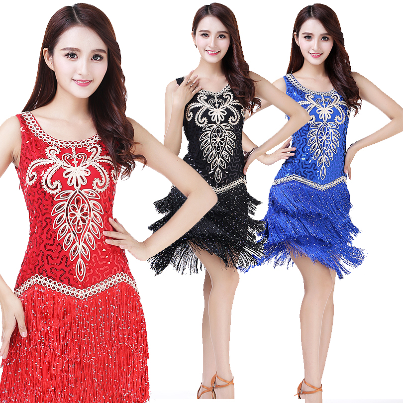 0394c5c8c1381 Detail Feedback Questions about Women's Vintage 1920s Flapper Dress  Charleston Gatsby Sequined Fringes Halloween Latin Dance Dress Performance  Outfits on ...