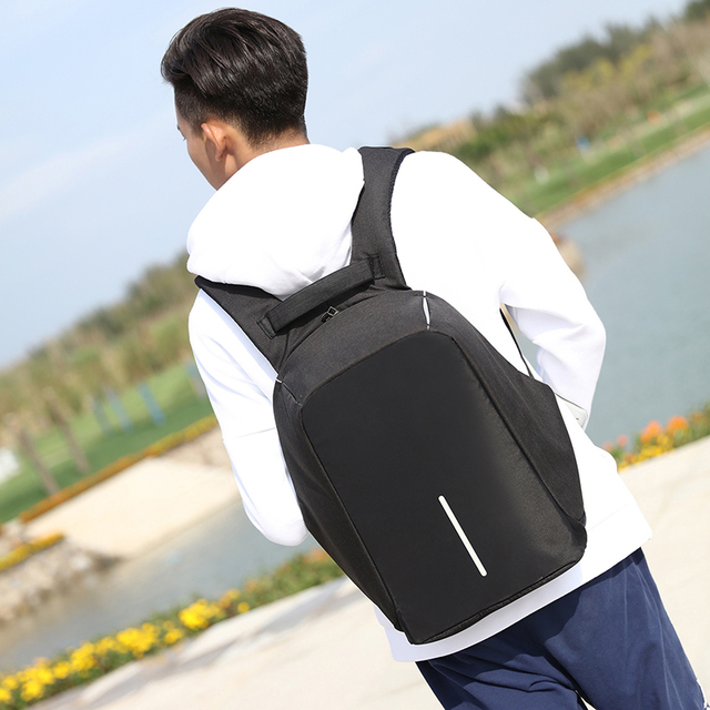 USB Charge Anti Theft Waterproof Notebook Backpack