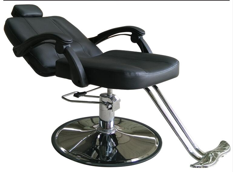 Barber chair hairdressing chair. Cut hair salon chair hair salon barber chair hairdressing chair put down the barber chair